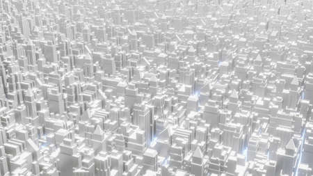 white city top view image for business or architecture content 3d rendering