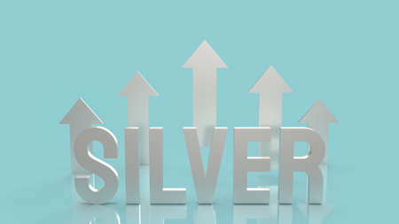 silver text  for background business content 3d rendering