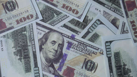 banknote 100 dollar  top view image for business content Reklamní fotografie