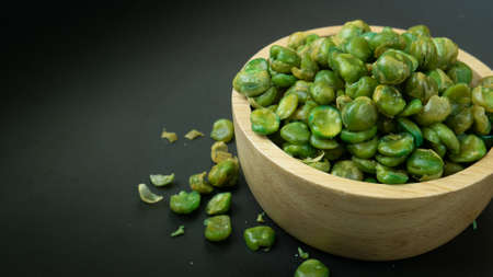 The Salt Roasted Green Peas close up image for food content