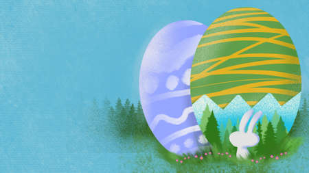 illustration  easter image for Easter Day holiday content