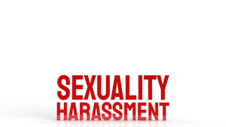 sexuality harassment  word for background 3d rendering