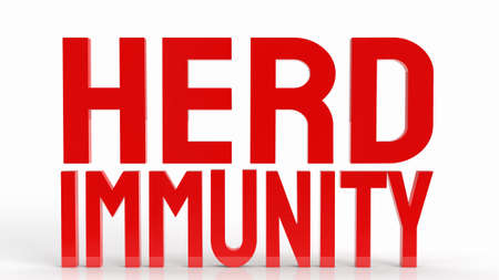 red herd immunity text for virus crisis concept 3d rendering 写真素材