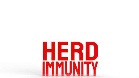 red herd immunity text for virus crisis concept 3d rendering 写真素材 - 167303792