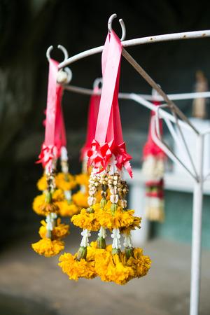 festoon: Yellow garland festoon Thailand