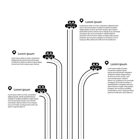 Vector of black and white Traffic Infographic Vector