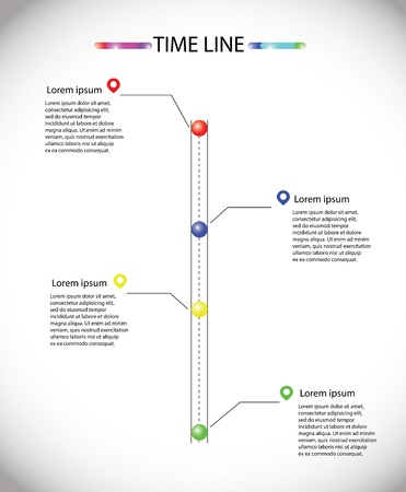 simple line transport infographic