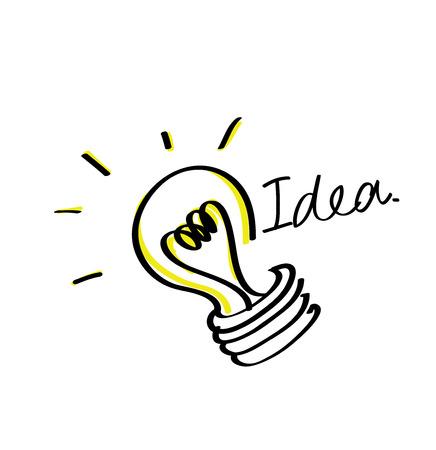 Light bulb idea vector icon