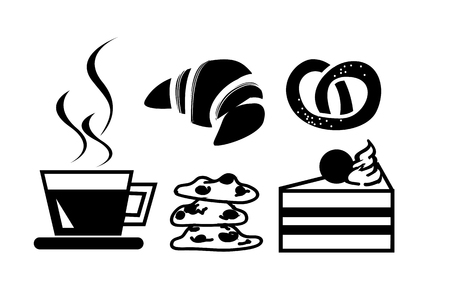 coffee and bakery icon Vector