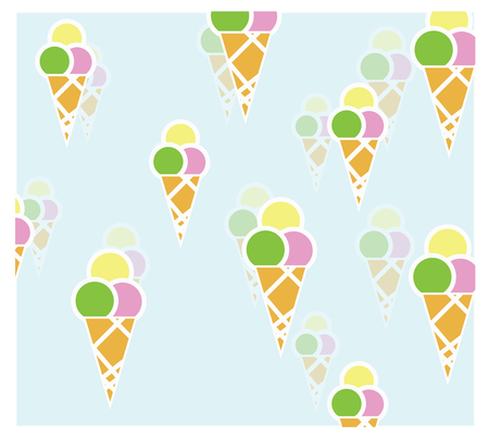 icecream pattern for background