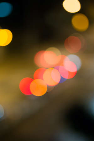 abstract of car light bokeh on the road