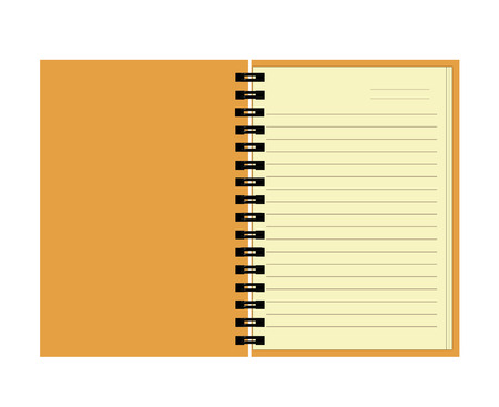 notebook with blank page  Illustration