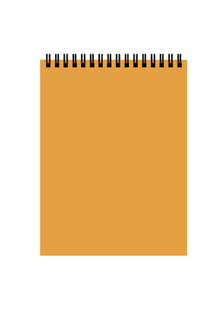 spiral binding:  notepad isolated on white Illustration