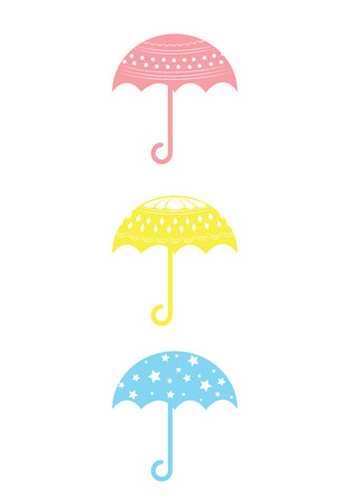 set of colorful umbrella Vector
