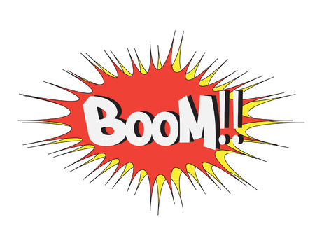 Boom Comic book explosion  comic sound effect Vector