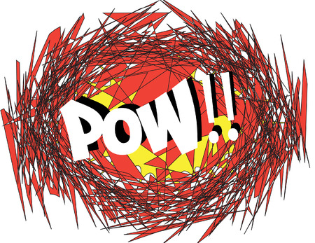pow: POW Comic book explosion  comic sound effect Illustration