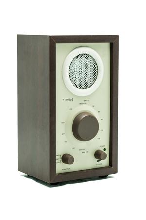 shortwave: Old Vintage Speaker isolated on white background  Stock Photo