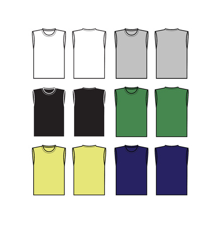 set of men vest template royalty free cliparts vectors and stock