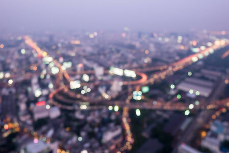 Abstract Bokeh of city nightscape photo