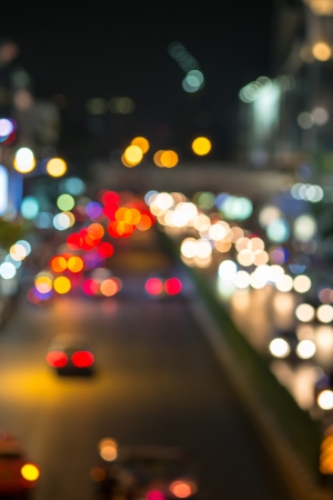 Abstract Blur traffic and car lights bokeh photo