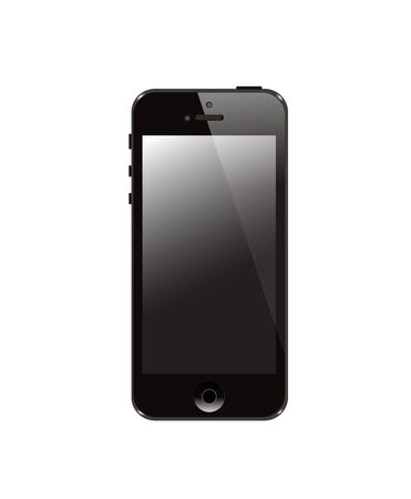 illustration of a mobile phone black  Vector