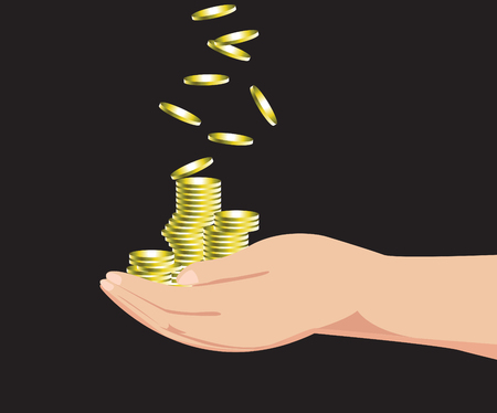 hand holding money  vector icon Vector