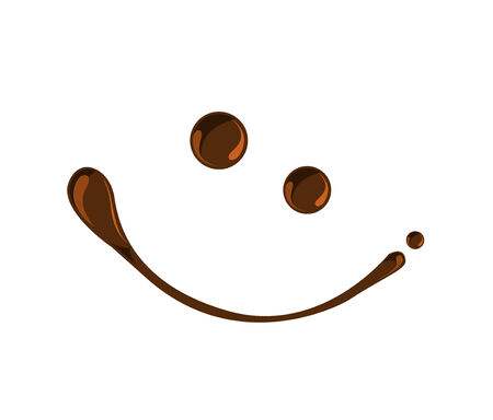 Chocolate smile chocolate syrup symbols vector Vector