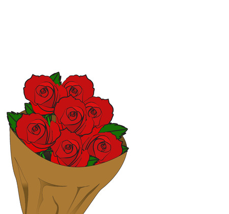 red rose bouquet: red rose bouquet for background vector
