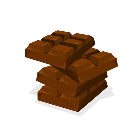 barra de chocolate: Pila de barra de chocolate de vectores
