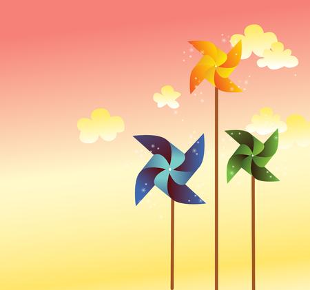 pinwheel for background vector Vector