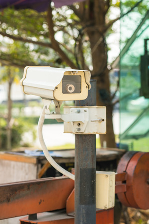 CCTV Camera in front of the village, residence photo