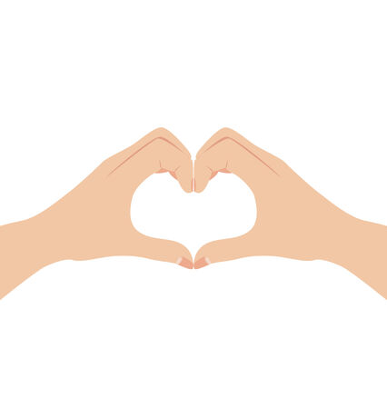 Female hands form a heart symbol vector illustration   Vector
