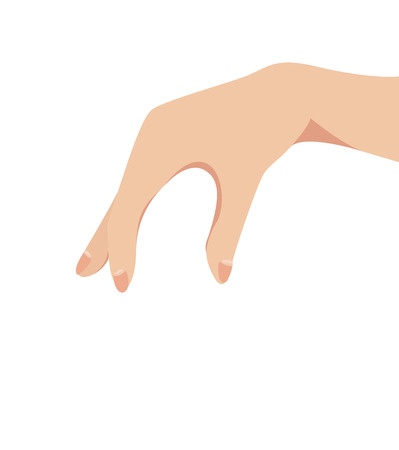 Female hand pinching or catching vector Vector