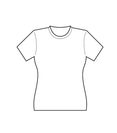 Front Female T-shirt template Vector