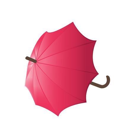 red umbrella vector Vector