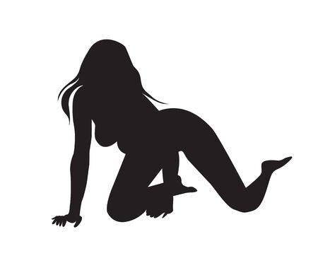 sexy woman girl silhouettes Illustration