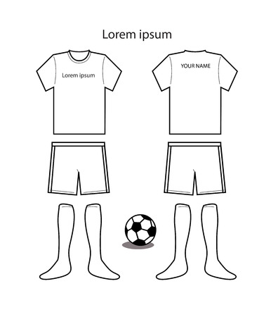Soccer uniform template vector Vector