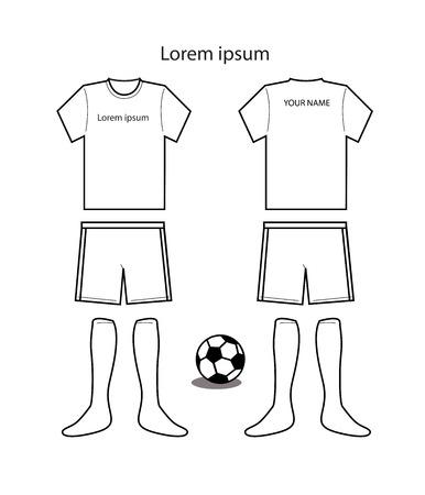 Fútbol plantilla uniforme vector