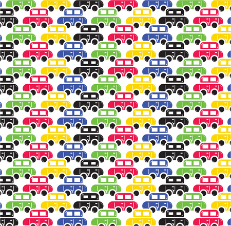 Vector of retro car pattern for background Vector