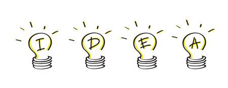 Bulb light idea illustration Vector