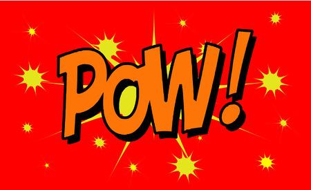 zonk: POW Comic explosion sound effect, Comic Speech Bubble