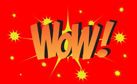 WOW Comic explosion sound effect, Comic Speech Bubble