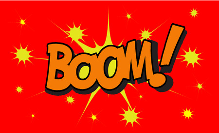 BOOM Comic explosion sound effect, Comic Speech Bubble Illustration
