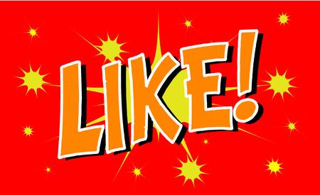 LIKE Comic explosion sound effect, Comic Speech Bubble