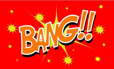BANG Comic explosion sound effect, Comic Speech Bubble Illustration