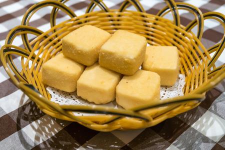 Deep Fried Tofu Stock Photo