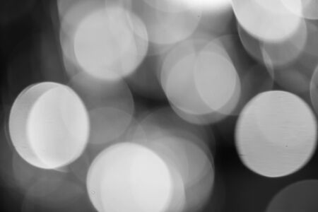 Abstract black and white, light texture blur bokeh for background
