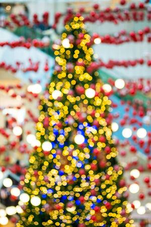 Abstarct bokeh of christmas tree
