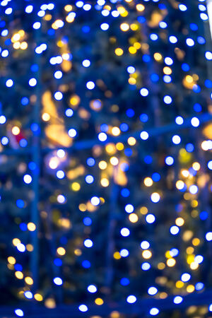 Abstract blue christmas bokeh for background