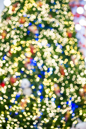 Abstract christmas bokeh for background